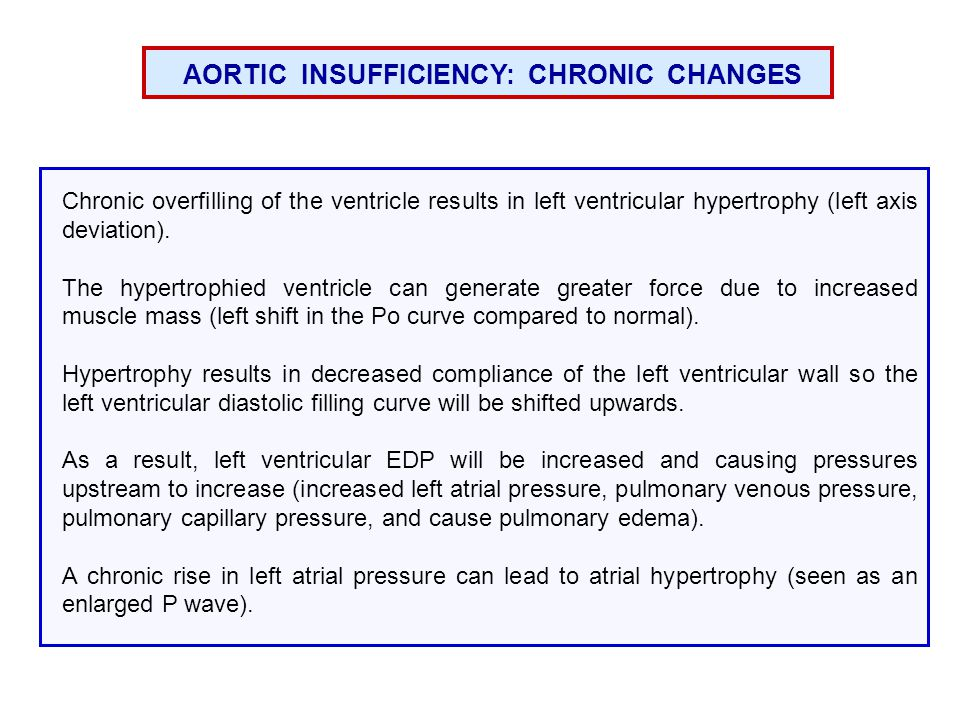 AORTIC INSUFFICIENCY: CHRONIC CHANGES