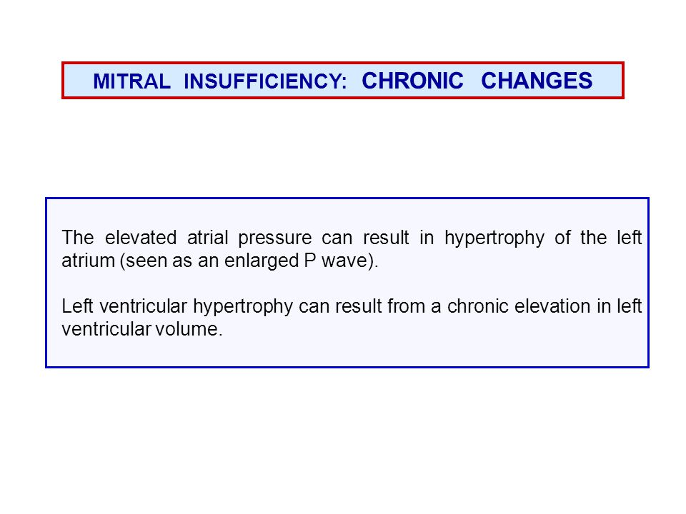 MITRAL INSUFFICIENCY: CHRONIC CHANGES