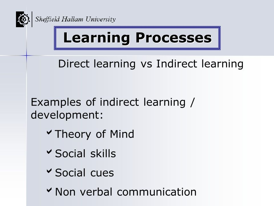 Direct learning vs Indirect learning
