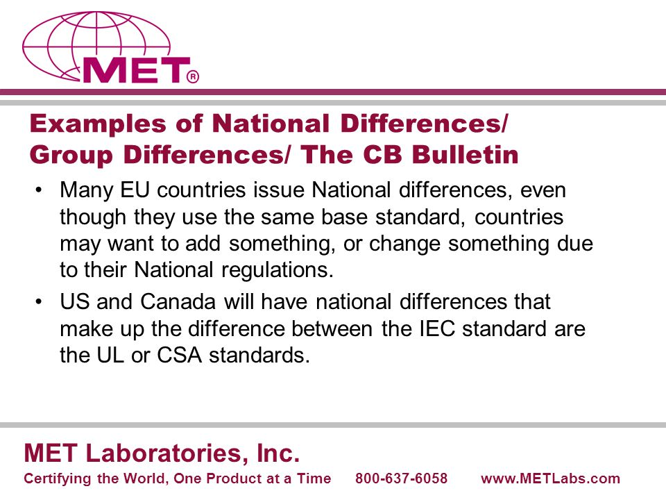 Examples of National Differences/ Group Differences/ The CB Bulletin