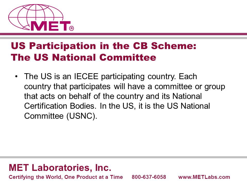 US Participation in the CB Scheme: The US National Committee