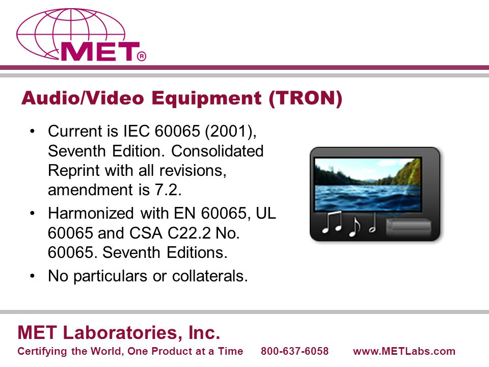 Audio/Video Equipment (TRON)