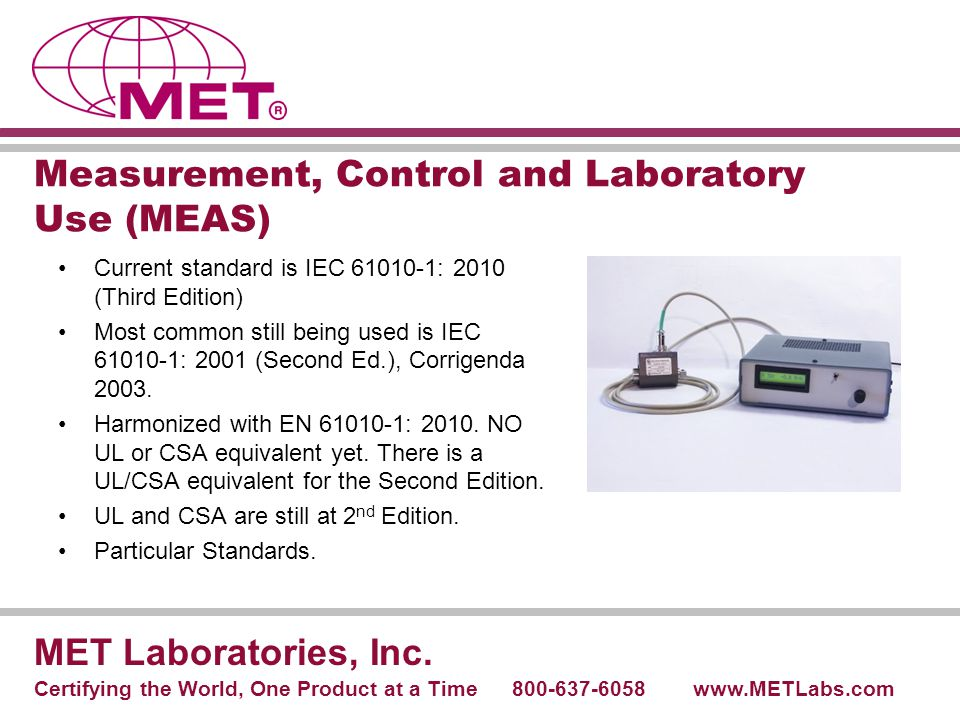 Measurement, Control and Laboratory Use (MEAS)