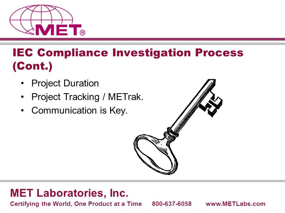IEC Compliance Investigation Process (Cont.)