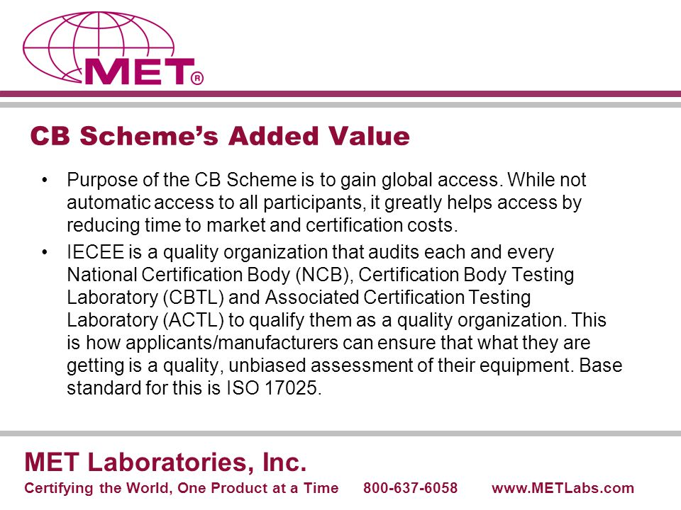 CB Scheme's Added Value