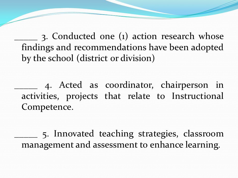 research studies in competency based performance appraisal for teachers Mecklenburg studies of teacher attitudes or whether the performance evaluation allows teachers to progress research showing that in performance-based.
