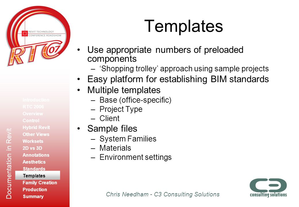 Templates Use appropriate numbers of preloaded components