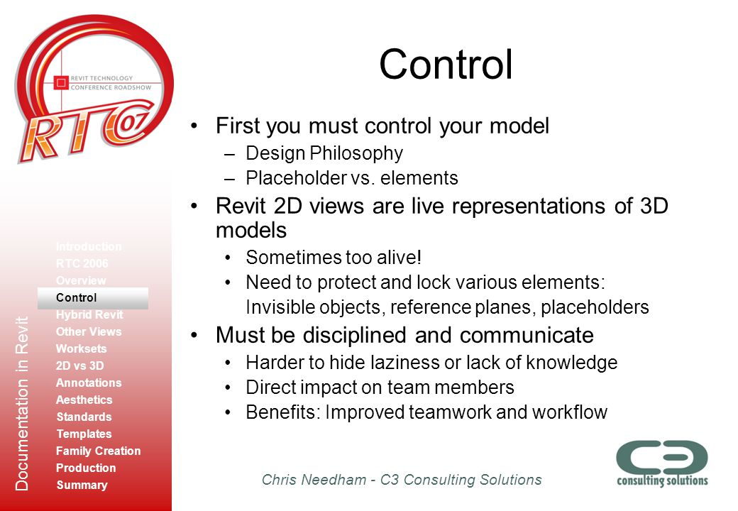 Control First you must control your model