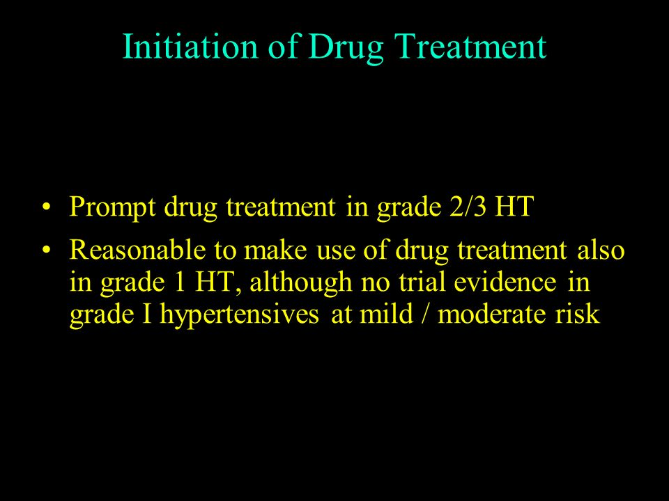 Initiation of Drug Treatment