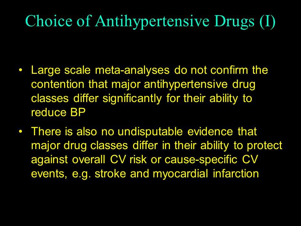 Choice of Antihypertensive Drugs (I)