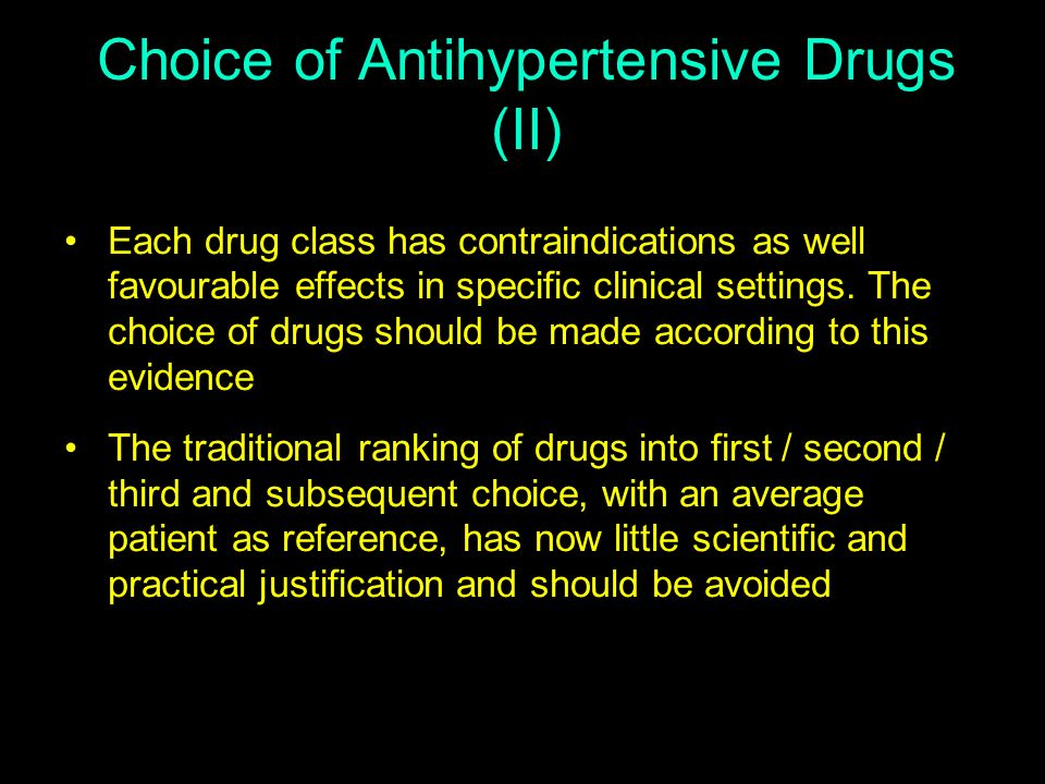 Choice of Antihypertensive Drugs (II)