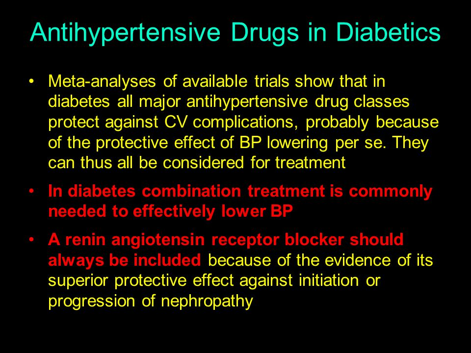 Antihypertensive Drugs in Diabetics