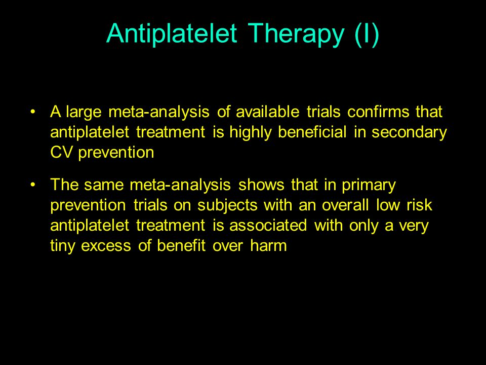 Antiplatelet Therapy (I)