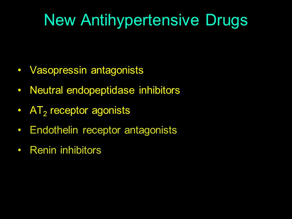 New Antihypertensive Drugs