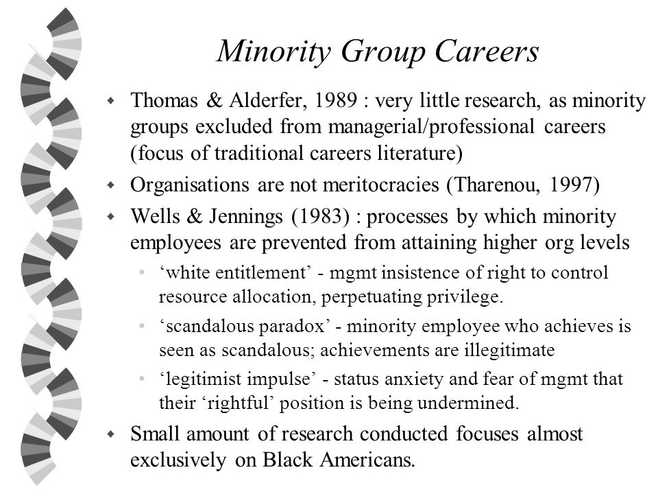 Minority Group Careers
