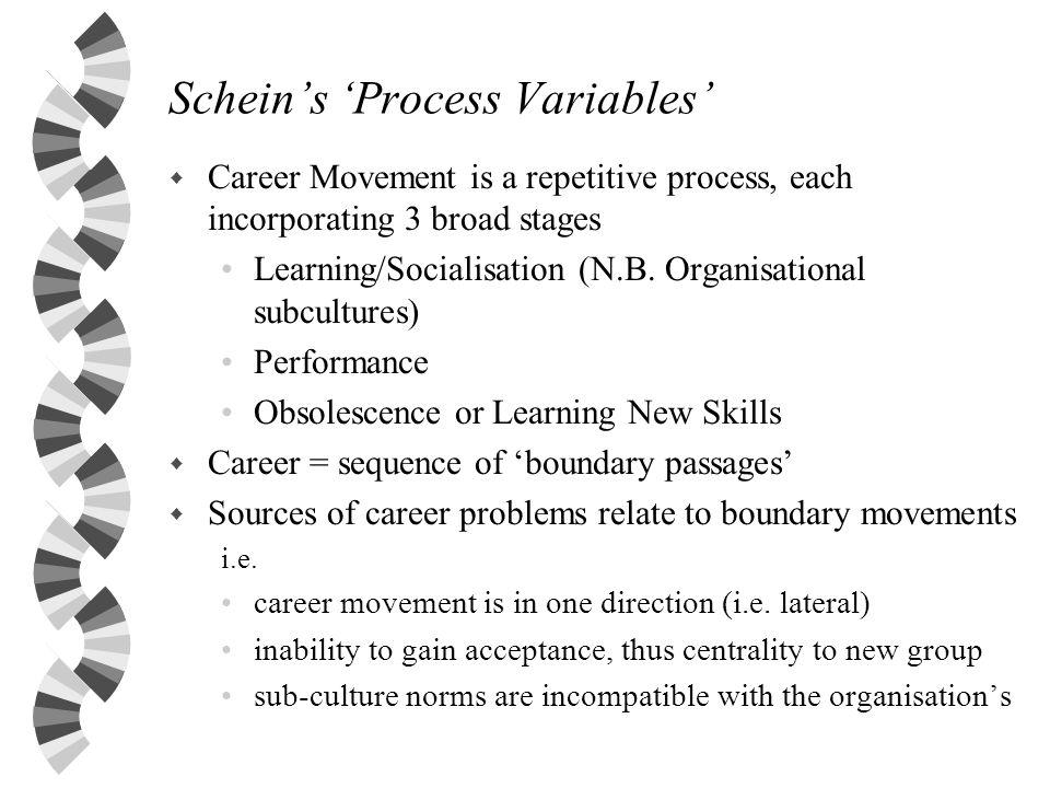 Schein's 'Process Variables'