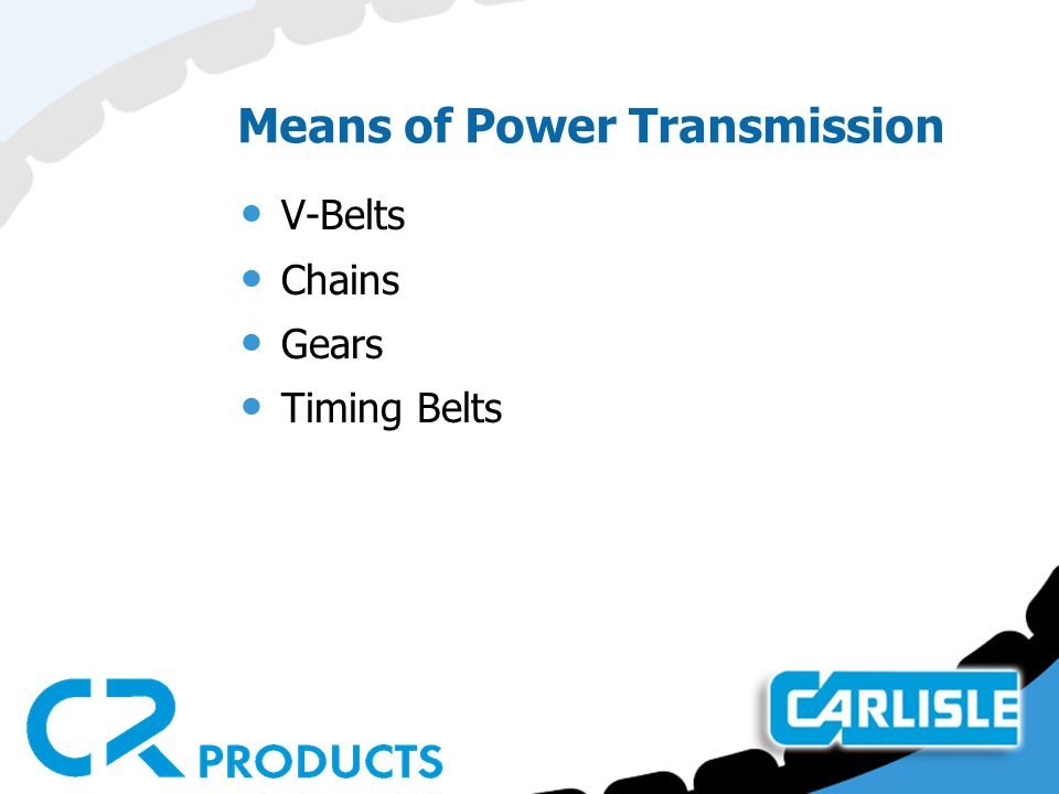 Means of Power Transmission