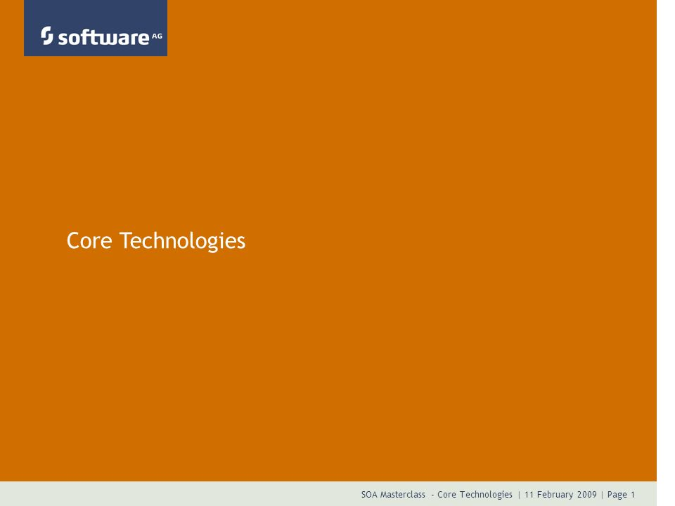 Core Technologies Presentation Title Date Author