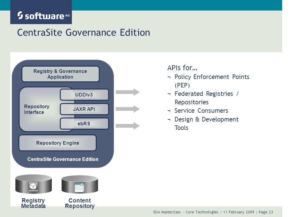 CentraSite Governance Edition