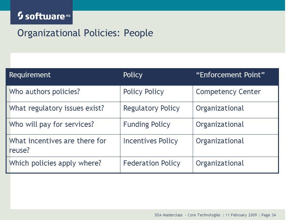 Organizational Policies: People