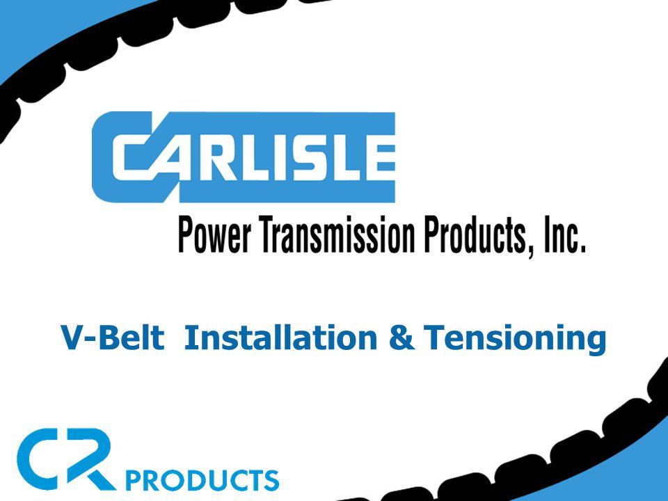 V-Belt Installation & Tensioning