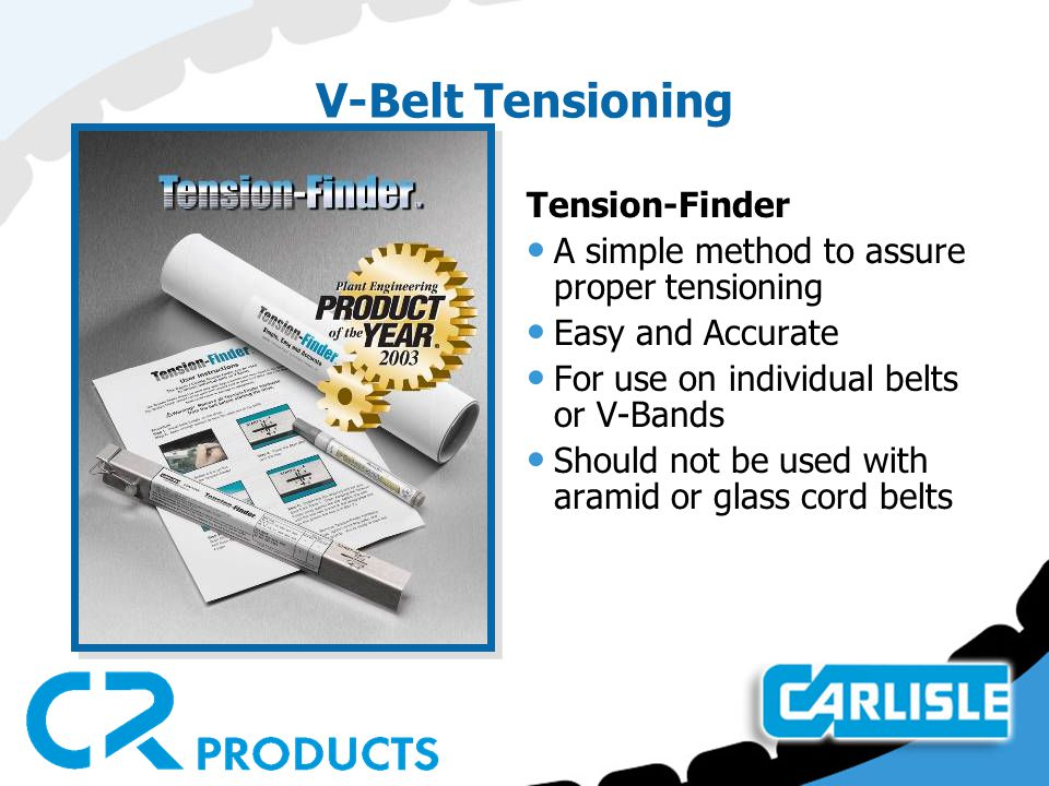 V-Belt Tensioning Tension-Finder