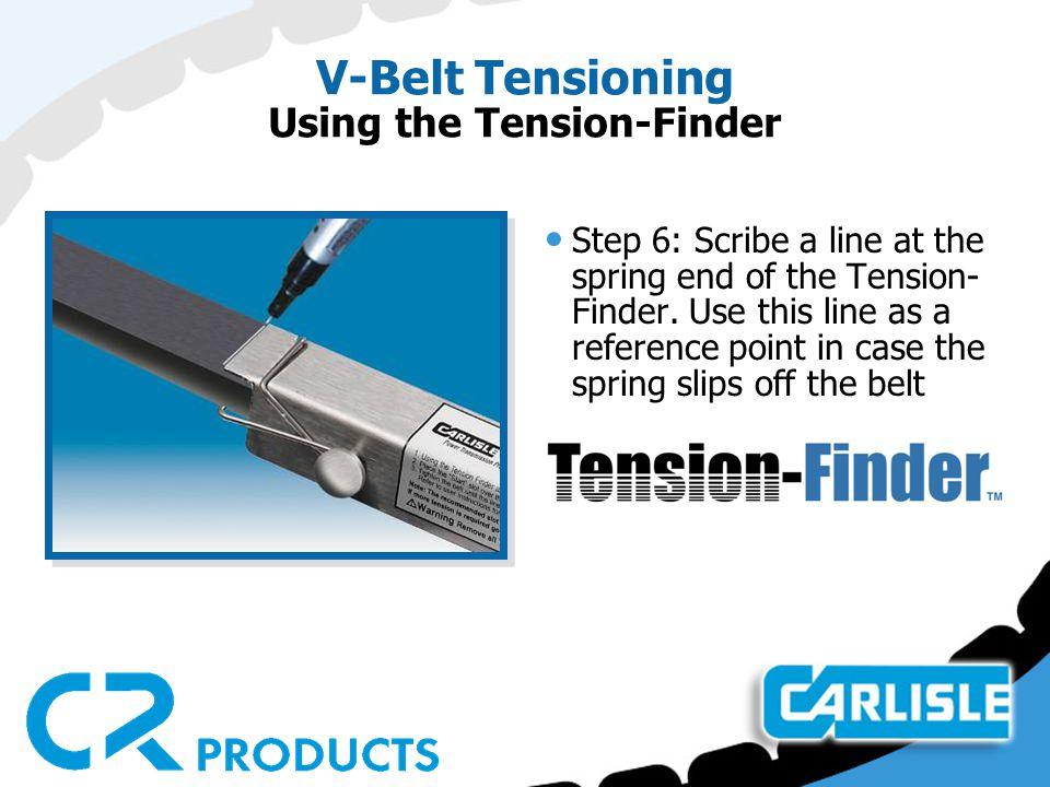 V-Belt Tensioning Using the Tension-Finder