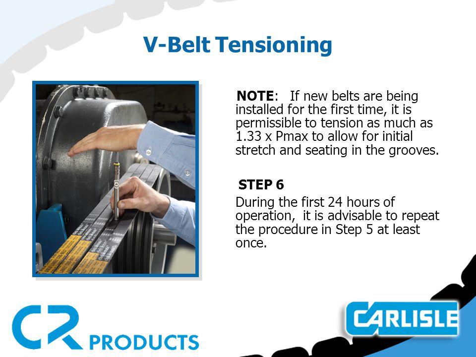 V-Belt Tensioning STEP 6