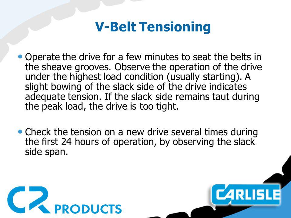 V-Belt Tensioning