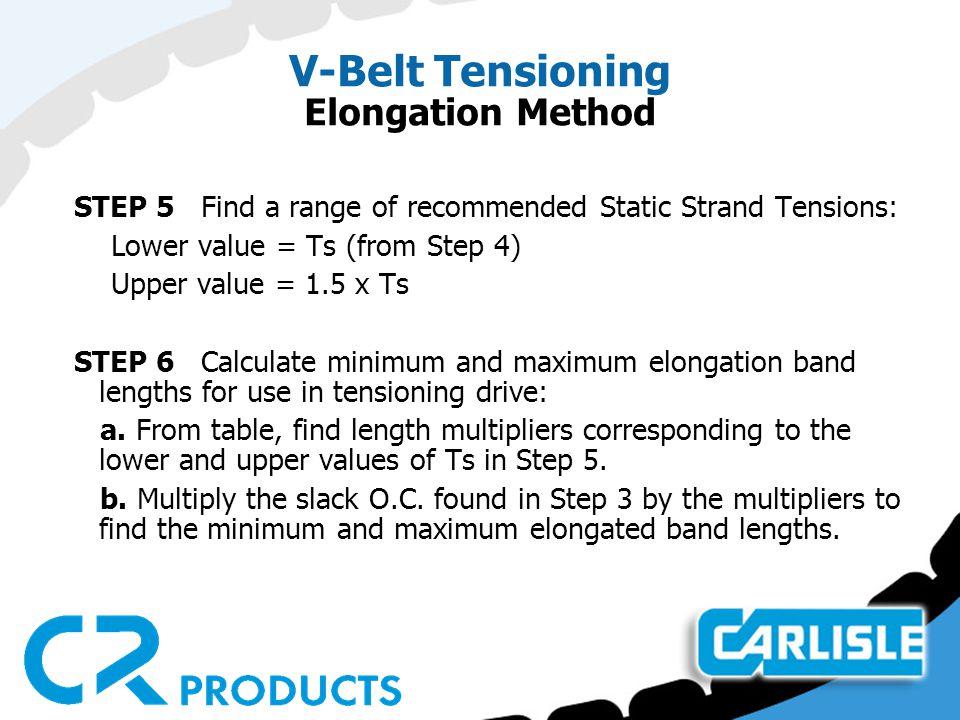 V-Belt Tensioning Elongation Method
