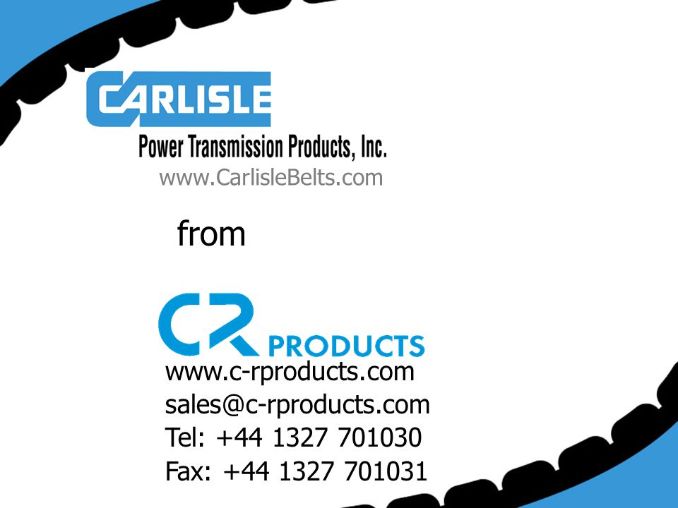 from www.c-rproducts.com sales@c-rproducts.com Tel: +44 1327 701030