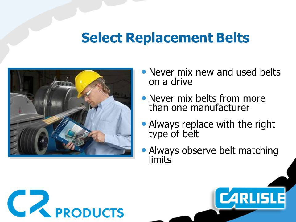 Select Replacement Belts