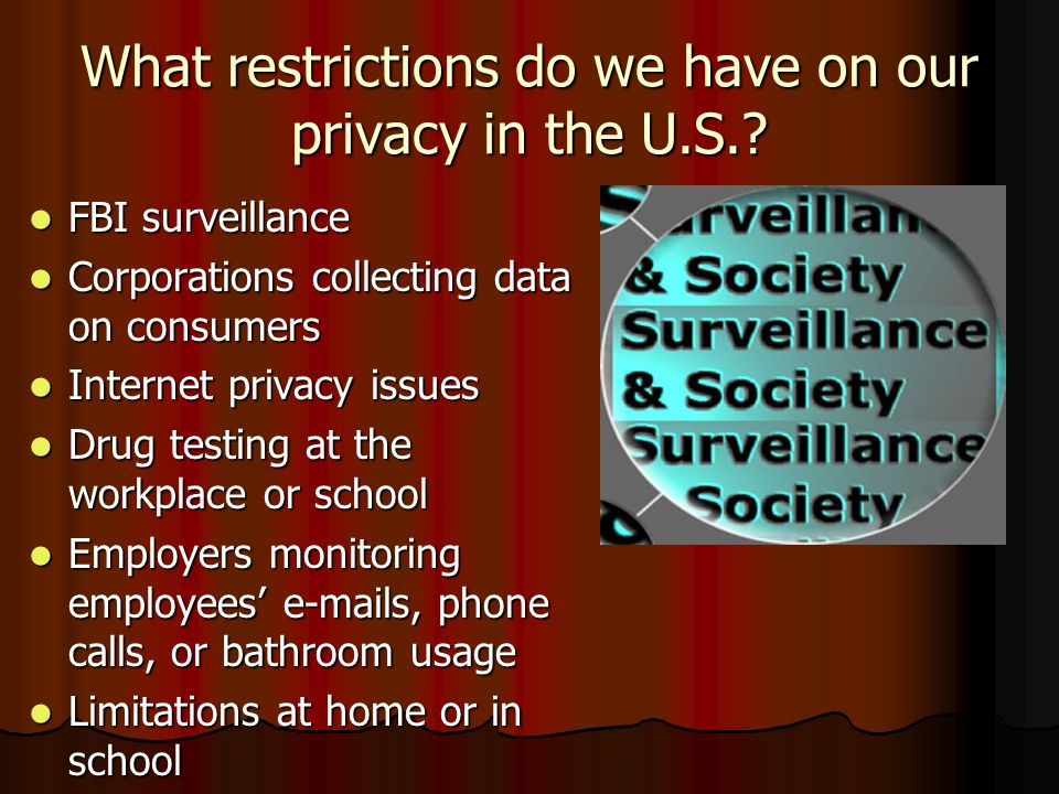 What restrictions do we have on our privacy in the U.S.