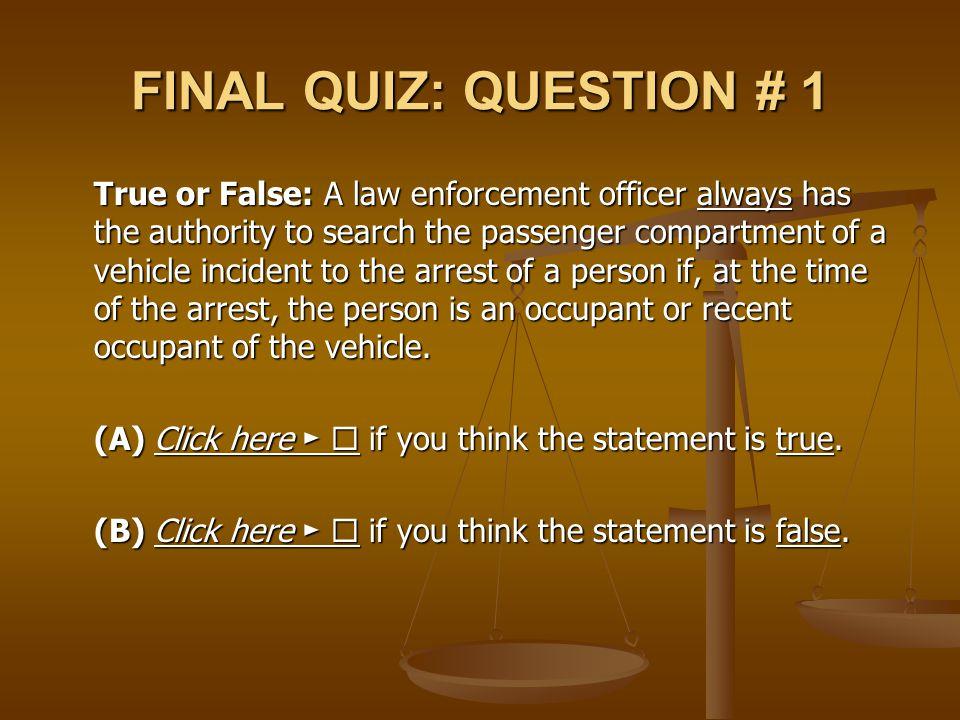 FINAL QUIZ: QUESTION # 1