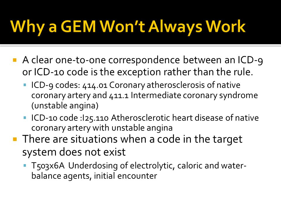 Why a GEM Won't Always Work