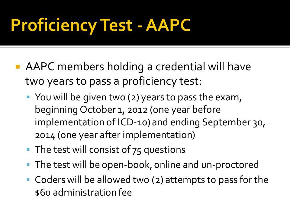 Proficiency Test - AAPC