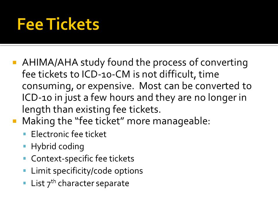 Fee Tickets