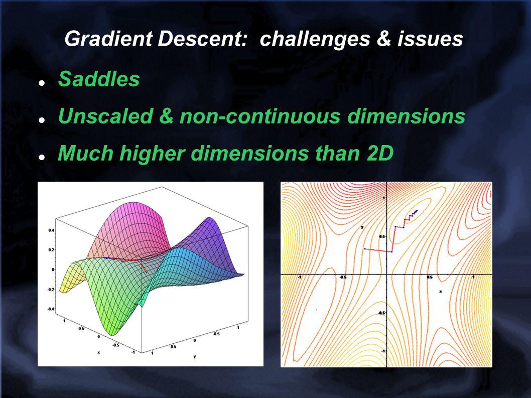Gradient Descent: challenges & issues