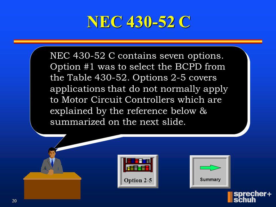 NEC 430-52 C