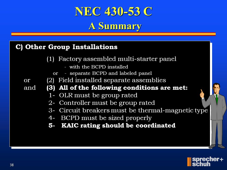 NEC 430-53 C A Summary C) OTHER GROUP INSTALLATIONS