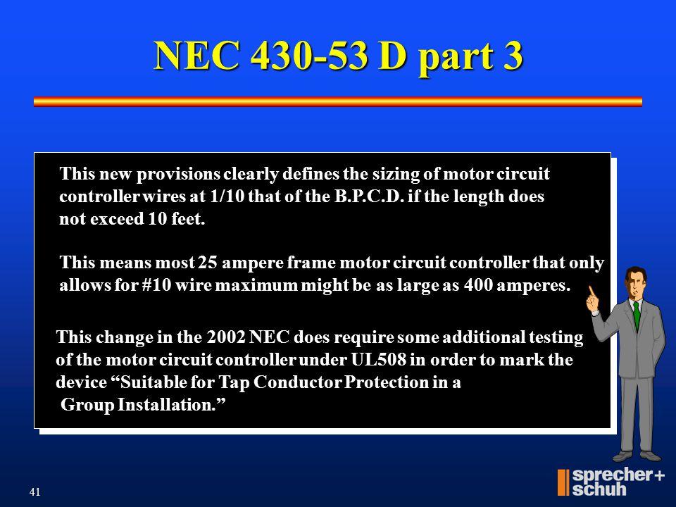NEC 430-53 D part 3
