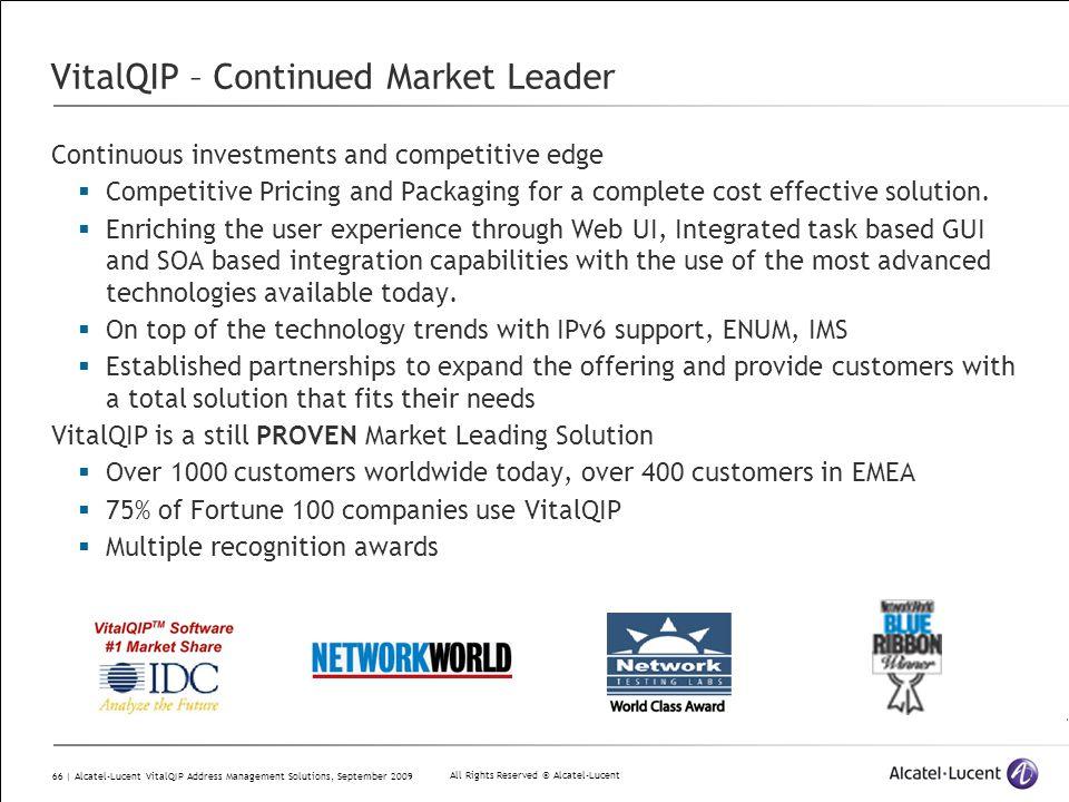 VitalQIP – Continued Market Leader