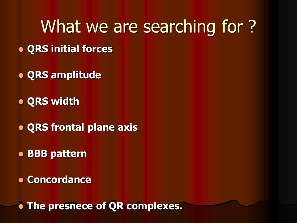 What we are searching for