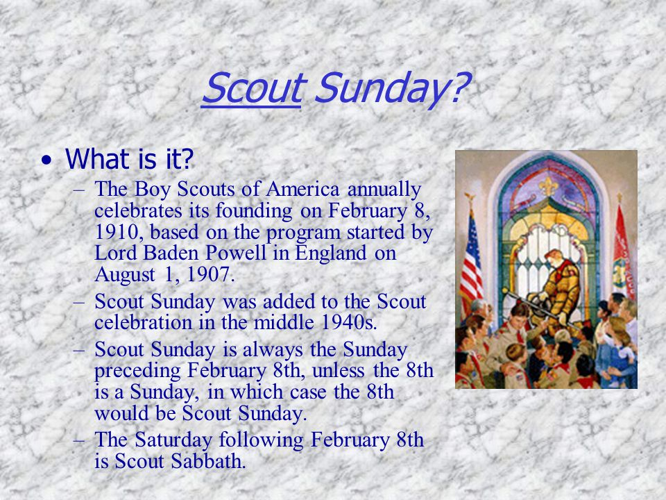 Scout Sunday What is it