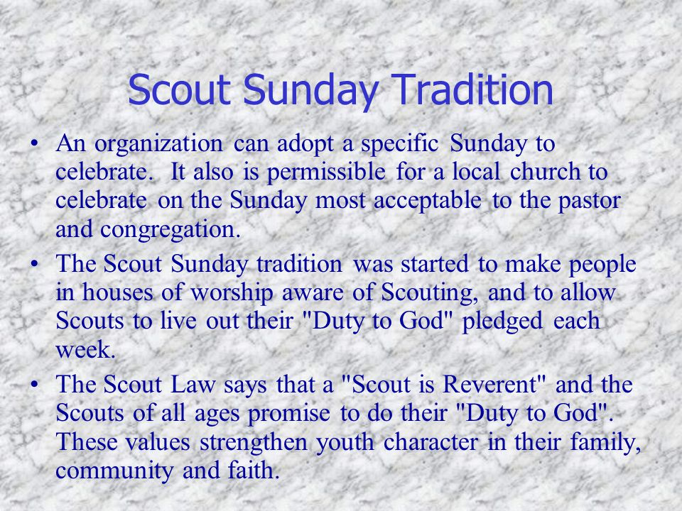 Scout Sunday Tradition