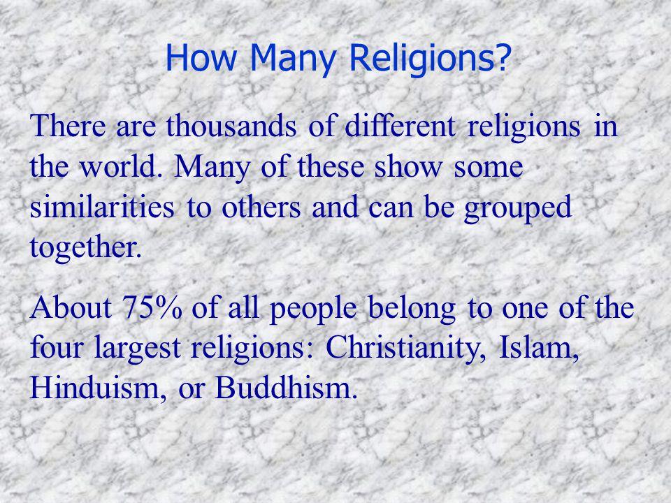 How Many Religions