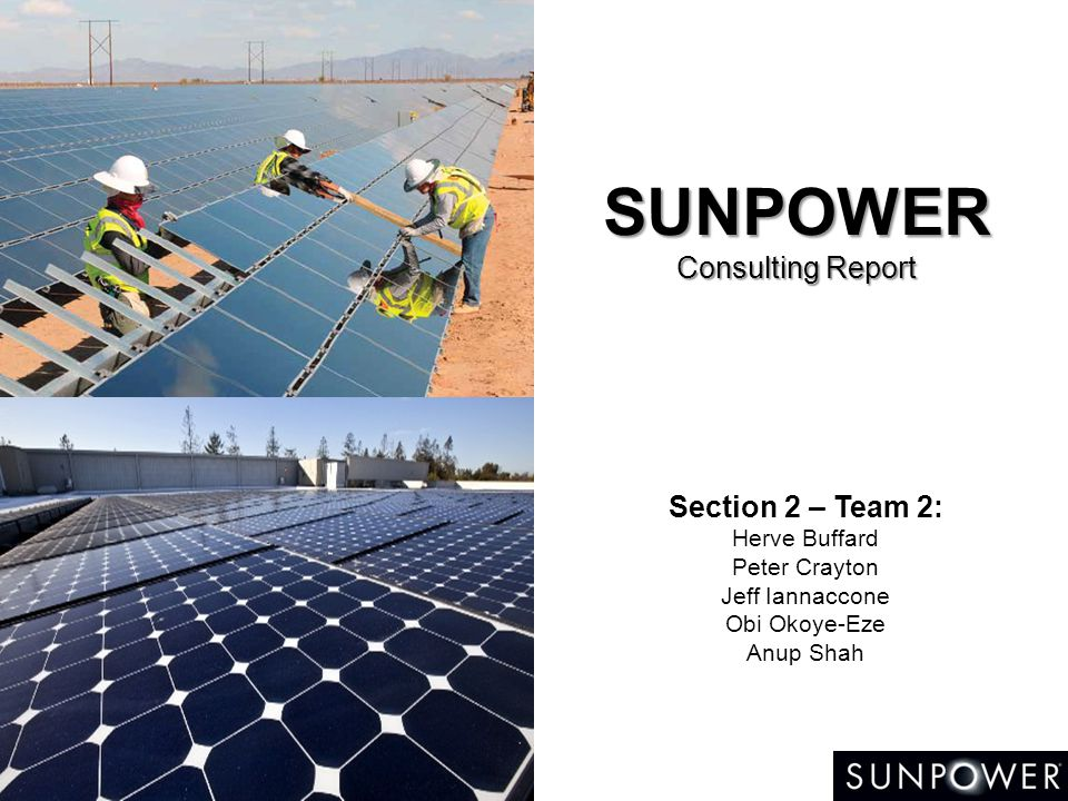 SUNPOWER Consulting Report - ppt video online download