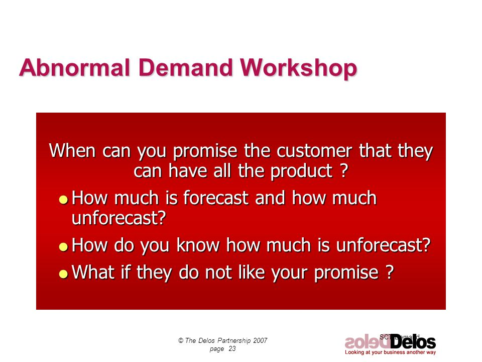 Abnormal Demand Workshop
