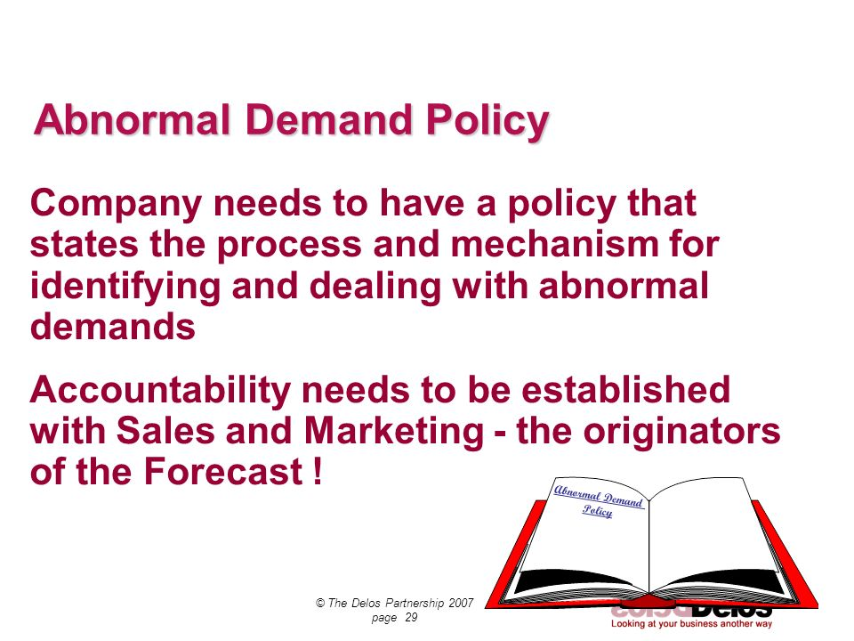Abnormal Demand Policy