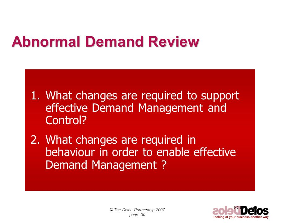 Abnormal Demand Review
